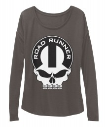 Road Runner Mopar Skull Dark Grey Heather BELLA+CANVAS Women's  Flowy Long Sleeve Tee $43.99