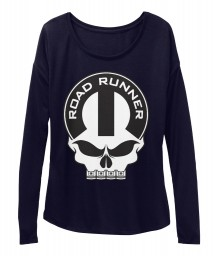 Road Runner Mopar Skull Midnight BELLA+CANVAS Women's  Flowy Long Sleeve Tee $43.99