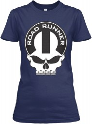 Road Runner Mopar Skull Navy Gildan Women's Relaxed Tee $21.99