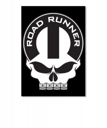 Road Runner Mopar Skull Portrait Sticker $6.00