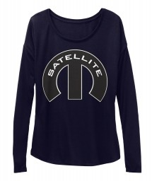 Satellite Mopar M Midnight BELLA+CANVAS Women's  Flowy Long Sleeve Tee $43.99