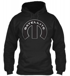 Satellite Mopar M Black Gildan 8oz Heavy Blend Hoodie $38.99