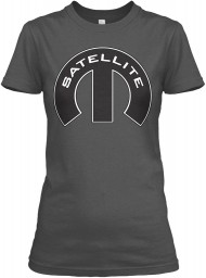Satellite Mopar M Charcoal Gildan Women's Relaxed Tee $21.99