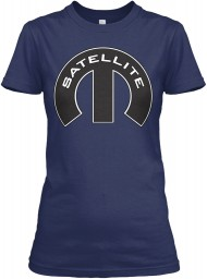 Satellite Mopar M Navy Gildan Women's Relaxed Tee $21.99