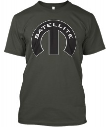 Satellite Mopar M Smoke Gray Hanes Tagless Tee $21.99