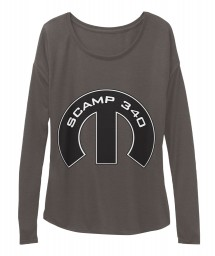 Scamp 340 Mopar M Dark Grey Heather  Women's  Flowy Long Sleeve Tee $43.99