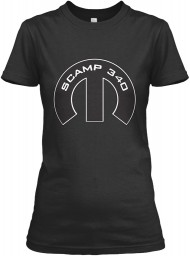 Scamp 340 Mopar M Black Gildan Women's Relaxed Tee $21.99