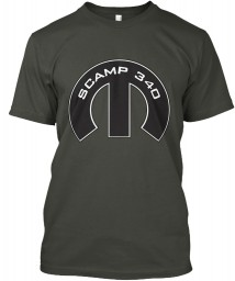 Scamp 340 Mopar M Smoke Gray Hanes Tagless Tee $21.99