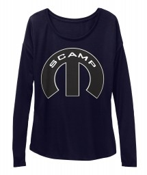 Scamp Mopar M Midnight  Women's  Flowy Long Sleeve Tee $43.99