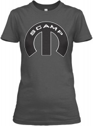 Scamp Mopar M Charcoal Gildan Women's Relaxed Tee $21.99