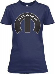 Scamp Mopar M Navy Gildan Women's Relaxed Tee $21.99