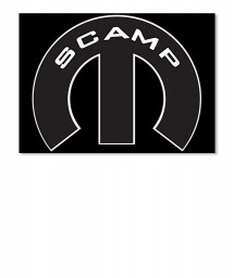 Scamp Mopar M Landscape Sticker $6.00