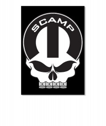 Scamp Mopar Skull Portrait Sticker $6.00