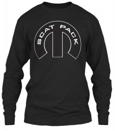 Scat Pack Mopar M Black Gildan 6.1oz Long Sleeve Tee $25.99