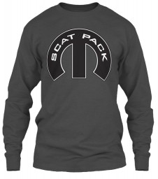 Scat Pack Mopar M Charcoal Gildan 6.1oz Long Sleeve Tee $25.99