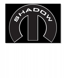 Shadow Mopar M Landscape Sticker $6.00