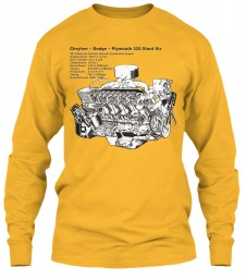 Slant Six 225 Cutaway Gold Gildan 6.1oz Long Sleeve Tee $25.99
