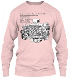 Slant Six 225 Cutaway Light Pink Gildan 6.1oz Long Sleeve Tee $25.99