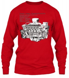 Slant Six 225 Cutaway Red Gildan 6.1oz Long Sleeve Tee $25.99