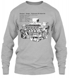 Slant Six 225 Cutaway Sport Grey Gildan 6.1oz Long Sleeve Tee $25.99