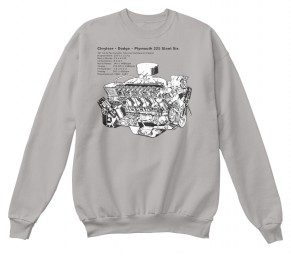 Slant Six 225 Cutaway Light Steel Hanes Unisex Crewneck Sweatshirt $33.99