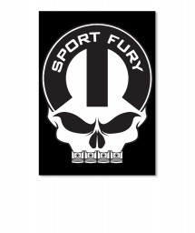 Sport Fury Mopar Skull Portrait Sticker $6.00