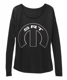 SRT Mopar M Black  Women's  Flowy Long Sleeve Tee $43.99