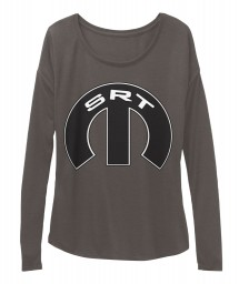 SRT Mopar M Dark Grey Heather  Women's  Flowy Long Sleeve Tee $43.99