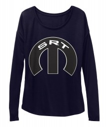 SRT Mopar M Midnight BELLA+CANVAS Women's  Flowy Long Sleeve Tee $43.99