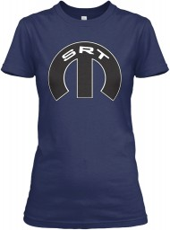 SRT Mopar M Navy Gildan Women's Relaxed Tee $21.99