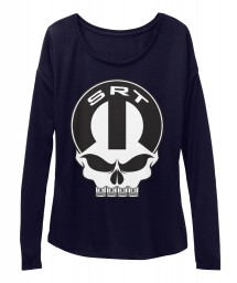 SRT Mopar Skull Midnight BELLA+CANVAS Women's  Flowy Long Sleeve Tee $43.99
