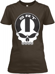 SRT Mopar Skull Dark Chocolate Gildan Women's Relaxed Tee $21.99