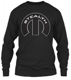 Stealth Mopar M Black Gildan 6.1oz Long Sleeve Tee $25.99