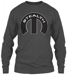 Stealth Mopar M Charcoal Gildan 6.1oz Long Sleeve Tee $25.99