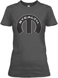 Stealth Mopar M Charcoal Gildan Women's Relaxed Tee $21.99