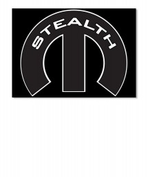 Stealth Mopar M Landscape Sticker $6.00
