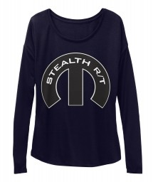 Stealth R/T Mopar M Midnight BELLA+CANVAS Women's  Flowy Long Sleeve Tee $43.99