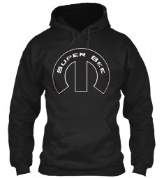 Super Bee Mopar M Black Gildan 8oz Heavy Blend Hoodie $38.99