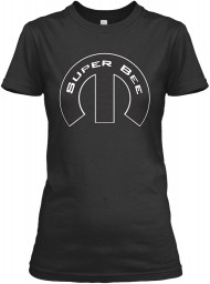 Super Bee Mopar M Black Gildan Women's Relaxed Tee $21.99