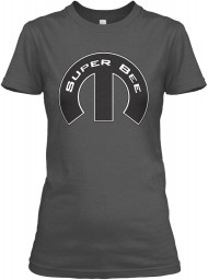 Super Bee Mopar M Charcoal Gildan Women's Relaxed Tee $21.99