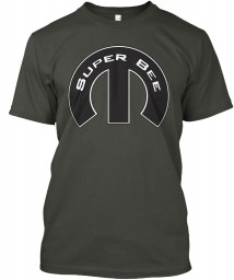 Super Bee Mopar M Smoke Gray Hanes Tagless Tee $21.99