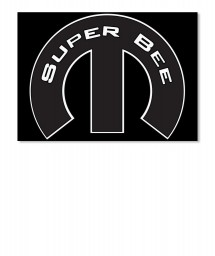 Super Bee Mopar M Landscape Sticker $6.00