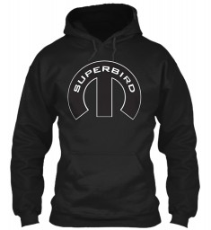 Superbird Mopar M Black Gildan 8oz Heavy Blend Hoodie $38.99