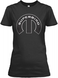 Superbird Mopar M Black Gildan Women's Relaxed Tee $21.99