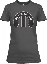 Superbird Mopar M Charcoal Gildan Women's Relaxed Tee $21.99