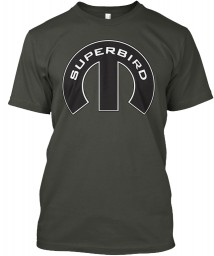 Superbird Mopar M Smoke Gray Hanes Tagless Tee $21.99