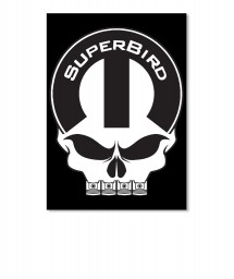 Superbird Mopar Skull Portrait Sticker $6.00