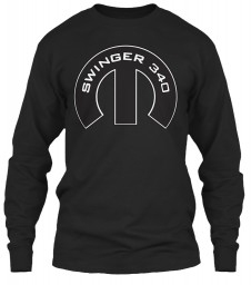 Swinger 340 Mopar M Black Gildan 6.1oz Long Sleeve Tee $25.99