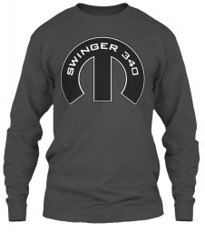 Swinger 340 Mopar M Charcoal Gildan 6.1oz Long Sleeve Tee $25.99