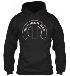 Swinger 340 Mopar M Black Gildan 8oz Heavy Blend Hoodie $38.99
